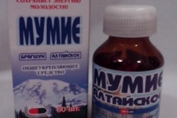 Раствор мумие для лечения синусита