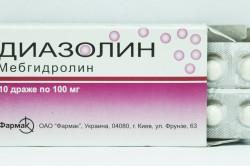 Диазолин при лечении зеленых соплей