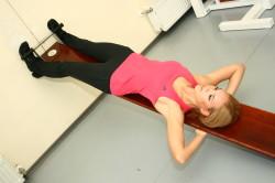 Упражнения для лечения грыжи Шморля