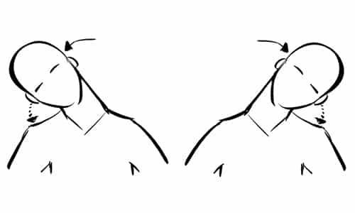 Для шеи полезно упражнение при котором голову плавно поворачивают вправо и влево