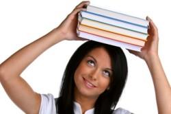 Ношение книг на голове