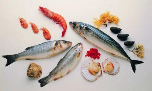 Практически все морепродукты имеют в составе йод, железо, калий, цинк, магний и жирные кислоты, способствующие работе щитовидной железы