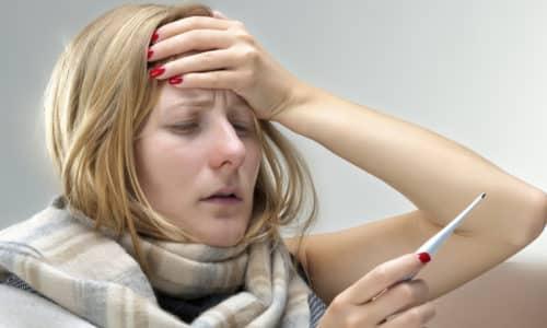 Появляются такие признаки патологии как повышение температуры тела